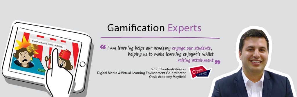 Simon Poole-Anderson, Digital Media & VirtualLearning Environment Co-ordinator, Oasis Academy Mayfield